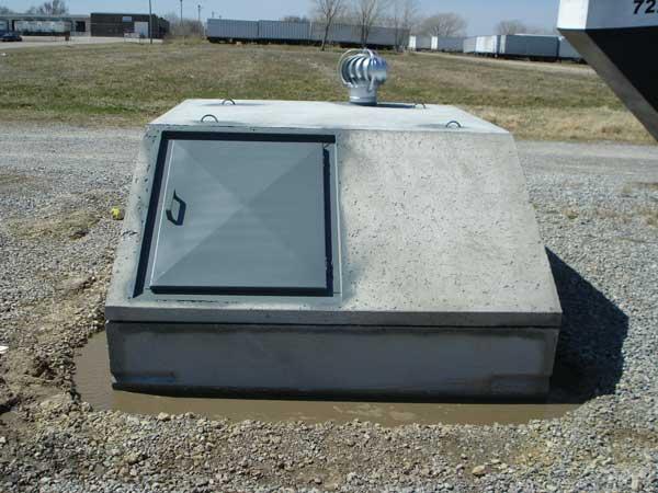 6 x 8 concrete underground tornado storm shelter