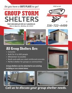 Protection Shelters 2016 Group Storm Shelter Flyer