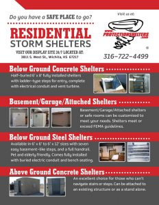 Protection Shelters 2016 Residential Storm Shelter Brochure