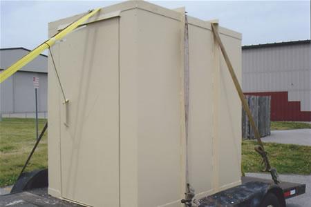 Saferoom on trailer