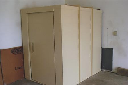 Completed saferoom in garage