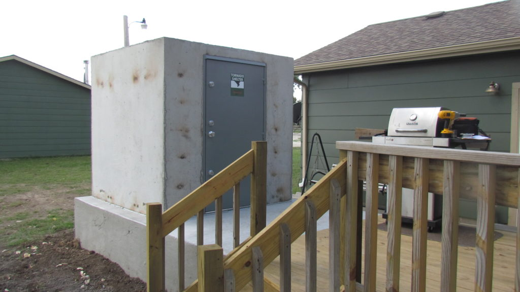 Metal Storm Shelters : Above ground storm tornado shelters concrete or steel