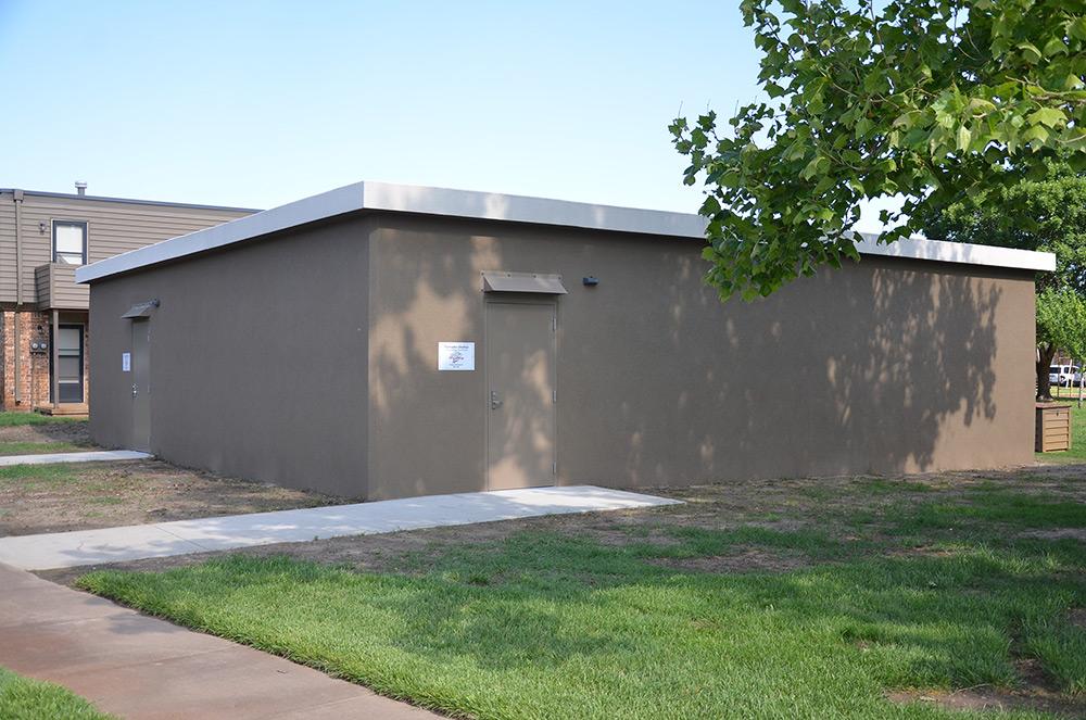 Group Tornado Shelter at Seneca Village Townhouses in Wichita, KS.