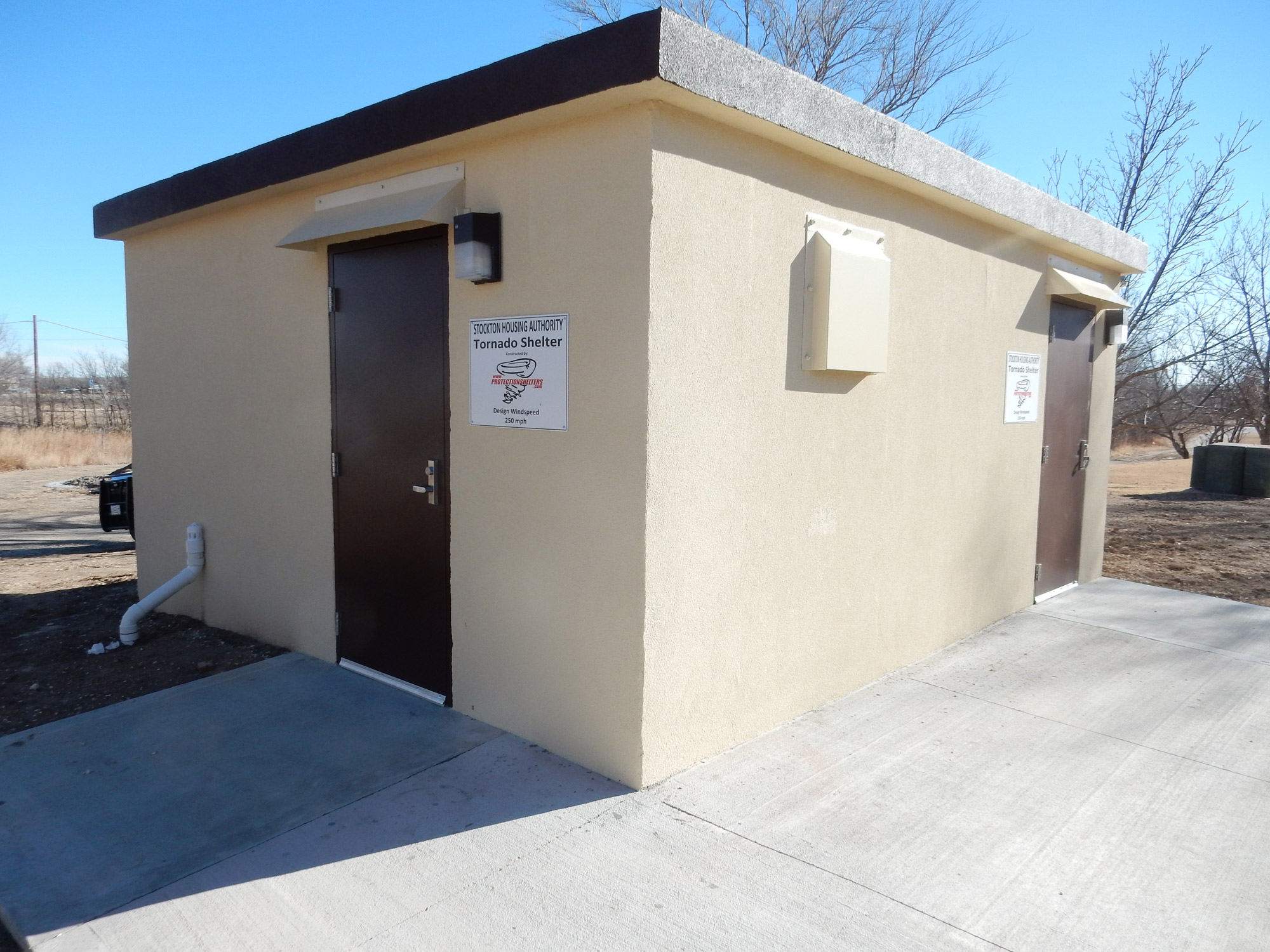 Stockton Housing Authority Group Storm Shelter in Stockton, KS.