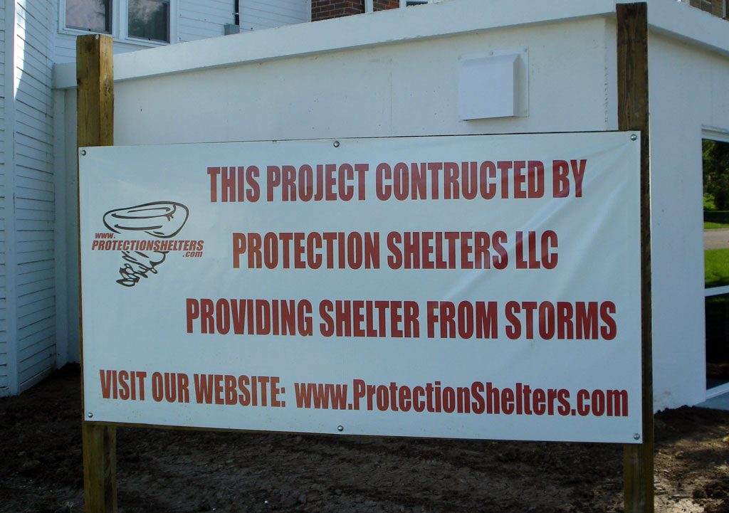 This project construsted by Protection Shelters Sign in Chapman