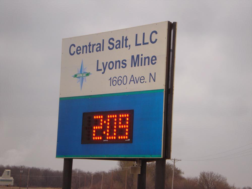 Central Salt Sign