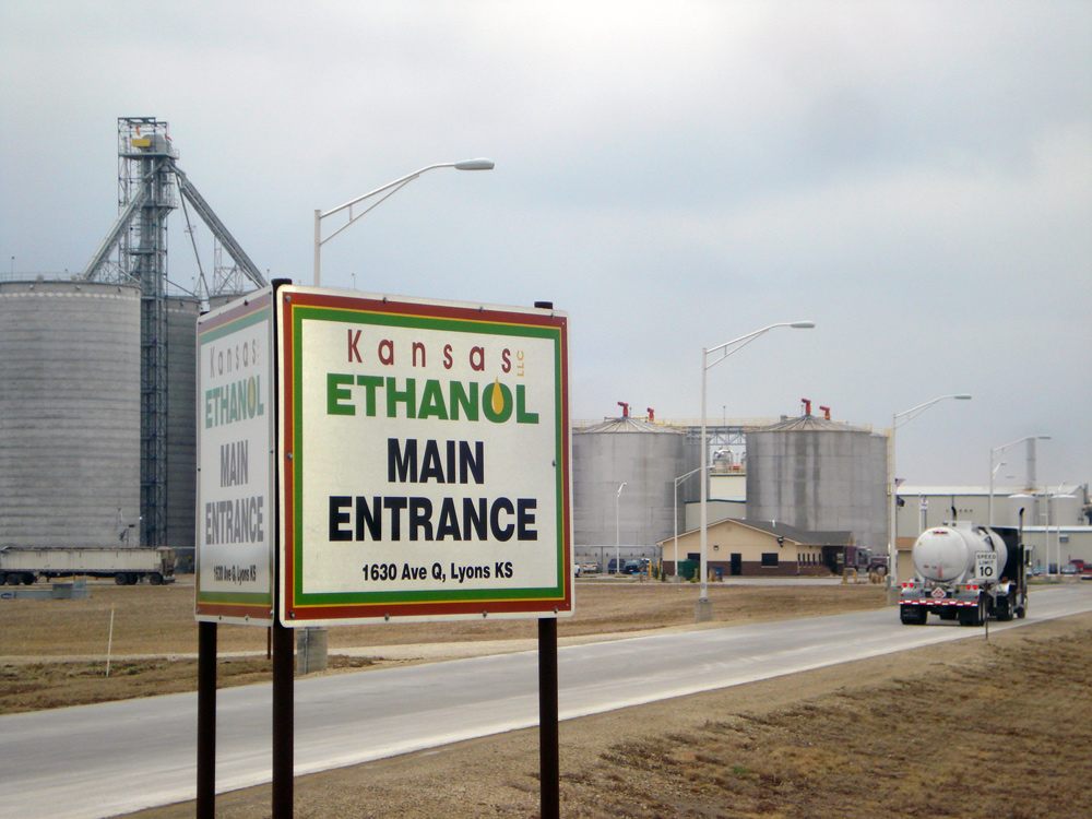 Main entrance to Kansas ethanol in Lyons, Kansas
