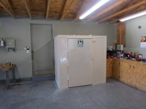 Custom garage tornado shelter
