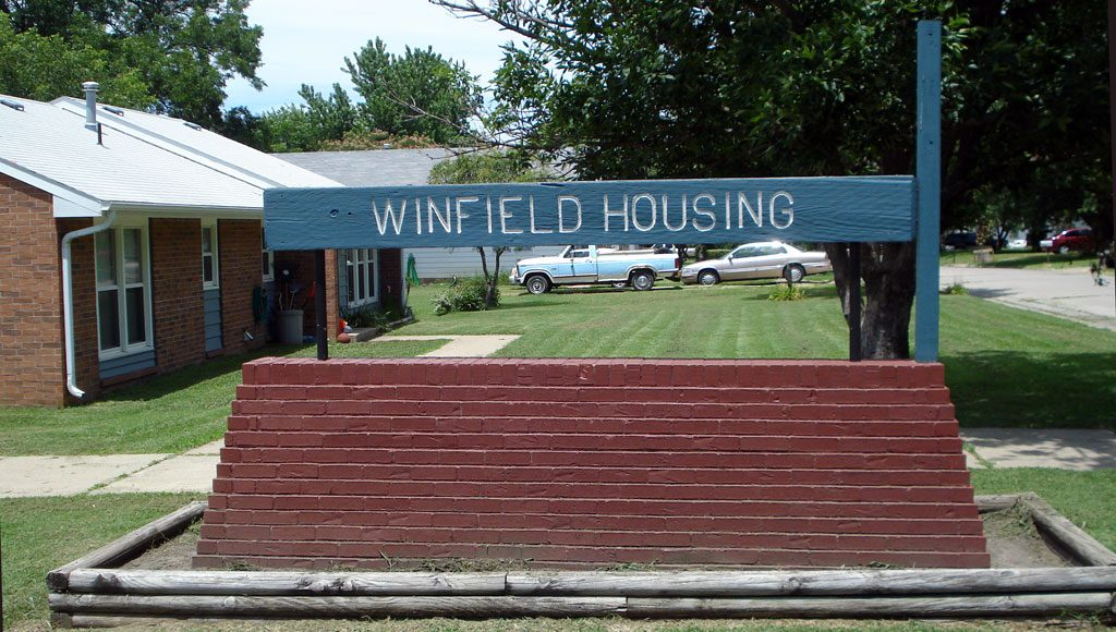 Winfield Housing Authority Sign