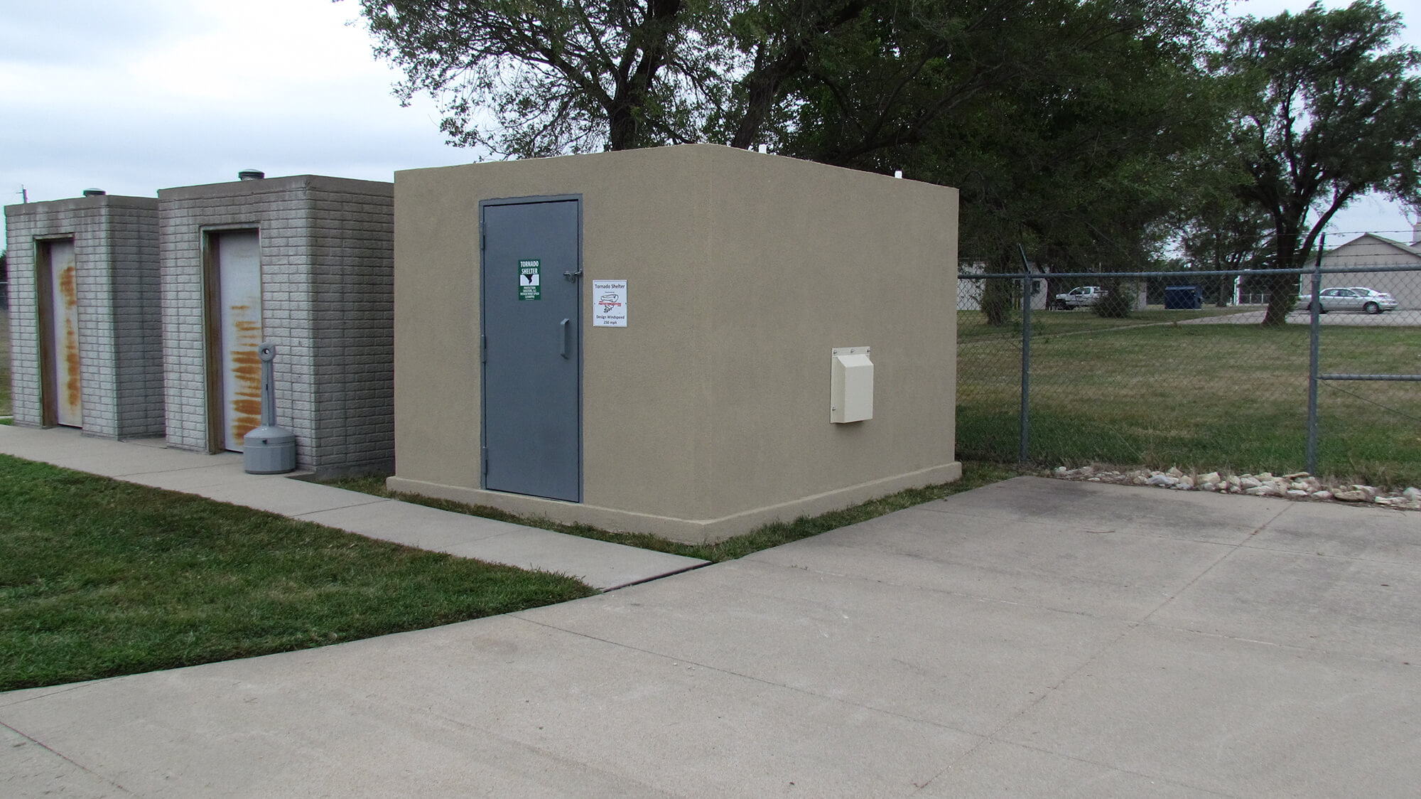 Protection Shelters community/group shelters have been built for clients of all industries ranging from schools, the Department of Energy, municipalities, housing authorities, mobile home parks, construction sites, and more.